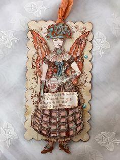 Paper Doll ArticulatedSpring Art Tag Tea Time by ParisPluie