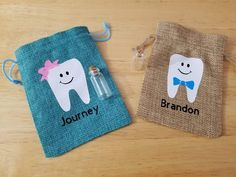 Tooth Pillow, Tooth Fairy Pillow, Mini Glass Bottles, Bottles And Jars, Dollar Bill Origami, Textiles, Boys Bow Ties, Personalized Gifts, Handmade Gifts
