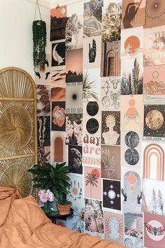 Room Design Bedroom, Room Ideas Bedroom, Bedroom Decor, Bedroom Inspo, Wall Collage Decor, Bedroom Wall Collage, Collage Walls, Cute Room Ideas, Cute Room Decor
