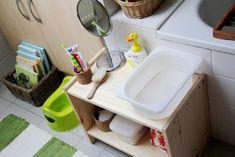 Montessori bathroom.