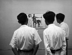 © Werner Bischof, 1951, Picasso exhibition, Tokyo