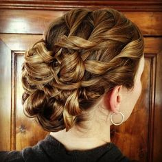 "Can Hallie do something similar to this except less ""just came out of rollers"" for the wedding?"