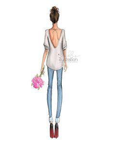 Risultati immagini per holly nichols illustrations Illustration Mode, Fashion Illustration Sketches, Fashion Design Sketches, Fashion Images, Fashion Art, Girl Fashion, Girly, Poses, Art Girl