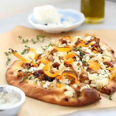 """""""This pizza isn't meant just as a lunch or dinner, but can also be served as a fun small plate to share over a glass of wine or as an appetizer before the main meal."""" - Heidi from FoodieCrush"""