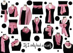 várias maneiras de usar seu echarpe