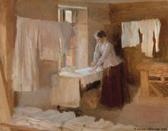 Woman Ironing, Study for the Washerwomen, 1888 by Albert Edelfelt on Curiator, the world's biggest collaborative art collection. Inspirational Artwork, Digital Museum, Collaborative Art, Portraits, Art Forms, Female Art, Painting & Drawing, Art Museum, Scandinavian