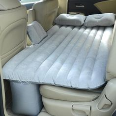 Car Back Seat Multi functional Sofa Pillow Outdoor Travel Bed - Air Bed - Ideas of Air Bed - Car Back Seat Multi functional Sofa Pillow Outdoor Travel Bed Inflatable Car Bed, Sofa Pillows, Cushions, Sleeping In Your Car, Air Mattress, Car Travel, Back Seat, Car Accessories, Trailers