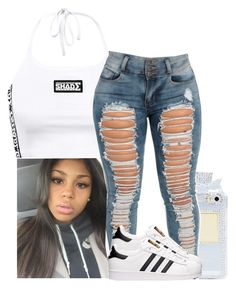 """▫🍇▫"" by xtiairax ❤ liked on Polyvore featuring adidas"