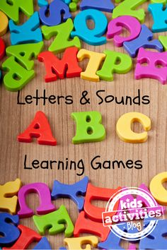 35 Letters and Sounds Learning Games. School is beginning soon, and these 35 letter and sounds learning games and activities will help you prepare your new student in fun ways. Preschool Letters, Kindergarten Literacy, Alphabet Activities, Literacy Activities, Activities For Kids, Alphabet Letters, Letter Sound Activities, Alphabet Crafts, Early Literacy