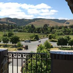Mountain view from the top of the tower at Jacuzzi Winery in Sonoma, California