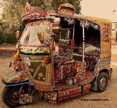 Similar to Truck art, Rickshaw Art. Pakistan Caption it yourself to see how crea. Truck Art Pakistan, Pakistan Zindabad, Pakistan Travel, Goa India, Delhi India, New Delhi, Pakistani Culture, Muslim Culture, Asia