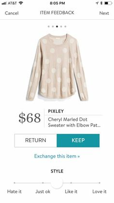 This is very cute. I like the neutral colors, but the dots give it a little detail. I also like the size of the print. It's not too big, but not too small and busy, either.