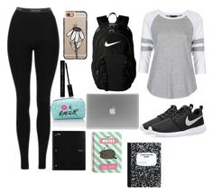 """School"" by marvel1 on Polyvore featuring Topshop, NIKE, Pusheen, Casetify, Dolce&Gabbana and Forever 21"