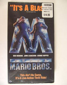 VHS Super Mario Bros Live Action Movie Film 1993 Bob Hoskins John Leguizamo Dennis Hopper Nintendo NTSC Dinohatten Special Effects PG #35E by AdriennesAtticStore on Etsy