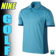 Nike Victory Block Dri-FIT Men's Performance Golf Polo Shirt  Blue/Teal 2XL&XL #NikeGolf #PoloShirt