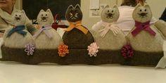 Paraspifferi con gattini in feltro
