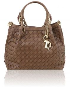 Tl Keyluck Tl141540 Handwoven Leather Tote