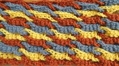 Crochet tutorial that teaches you how to do the Link Stitch using a single weave to make a nice wave look along the pattern. Use single crochet to make a thi...