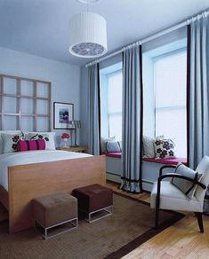 Голубая спальня, интерьер