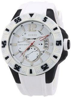 $70 GUESS White Silicone Mens Watch