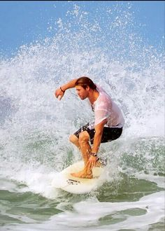 Surfing - he just comes alive.