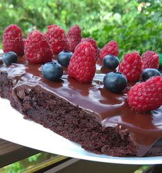 Anula w kuchni: Fasolowe brownie Delicious Desserts, Nom Nom, Food And Drink, Veggies, Pudding, Chocolate, Cooking, Healthy, Cake
