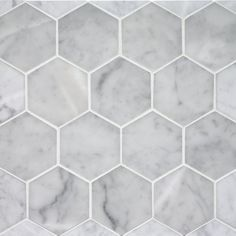 hexagonal tiles | Statuary Marble – hexagon mosaic tiles by Water Works