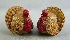 VTG SALT & PEPPER SHAKERS HOLIDAY THANKSGIVING TURKEY