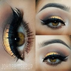 """Created by @johnabmakeup (Instagram) with BH Cosmetics' Party Girl Loose Eyeshadow Pigment in """"Looking Good""""."""