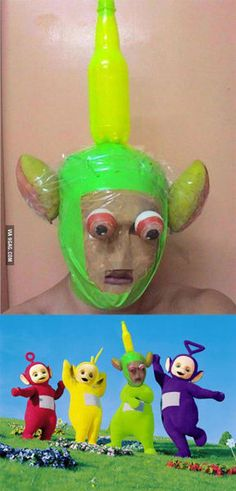 Teletubbies cosplay at its finest