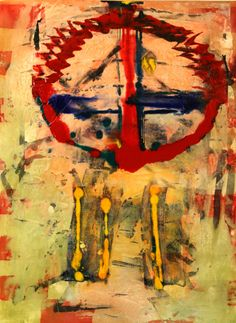 """Tom Dimond, Above and Below, Acrylic collage, 30"""" x 22"""", 2012"""