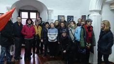25/01/14: Hoy hemos recibido un grupo procedente de la Aula de Patrimonio de la Universidad de Cantabria, que a pesar de las condiciones meteorológicas adversas visitaron el fuertes de San Carlos así como el de San Martín.