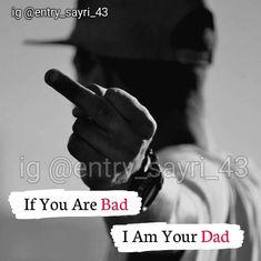 Attitude Thoughts, Attitude Quotes For Boys, Attitude Status, Positive Attitude, Deep Thoughts, Bad Words Quotes, Boy Quotes, Life Quotes, Impress Quotes