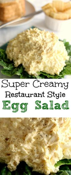 Creamy Restaurant Style Egg Salad The cream cheese makes this egg salad so creamy, it's absolutely the best egg salad you've ever tasted.The cream cheese makes this egg salad so creamy, it's absolutely the best egg salad you've ever tasted. Egg Salad Sandwiches, Wrap Sandwiches, Steak Sandwiches, Healthy Sandwiches, Breakfast Sandwiches, Creamy Eggs, Omelettes, Cooking Recipes, Healthy Recipes