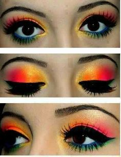@Audra Harris Stahl- can we do this makeup on you for the pink concert?!