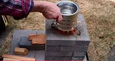 How To Make A Brick Rocket Stove For Under $10  OUTDOOR COOKING IN HOT WEATHER