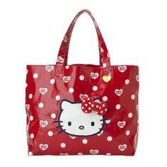 Sanrio Hello Kitty Tote Bag Polka-dot Ribbon I love Kitty Japan Exclusive
