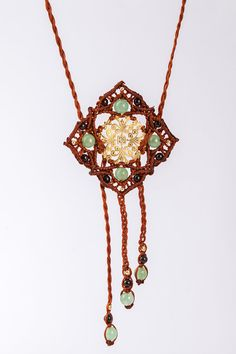 Hey, I found this really awesome Etsy listing at https://www.etsy.com/listing/221192798/brown-mandala-necklace-with-jade-and