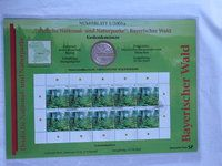 #Coin #Sheets. #coin and #Stamp Collection,   #philatelic #numismatic cover. German coin and stamps Set No. 1 2005 German #National and #Nature Parks. Forest. with a 10 € commemorative coin. http://www.sammler-und-hobbyshop.eu/1/2005-German-National-and-Nature-Parks-Bavarian-Forest