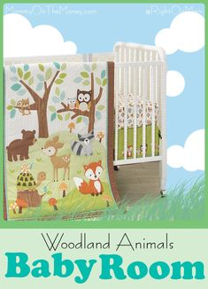 A collection of adorable crib sets, bedding, mobiles, lamps, and other decor for a Woodland Animals theme Baby Room.