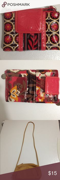 Pink Wallet and tan small purse Both in great shape! Feel free to make offers/ ask questions Bags