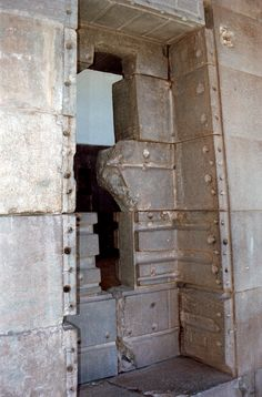 This is the most well preserved room at Korikancha. It was dedicated to the worship of the stars, which were looked upon as the daughters of the Sun and the Moon, and especially the morning star Venus (Chasea), considered to be the sentinel for her father the Sun god. The walls were covered with gold and silver sheets. The large window located in the middle of the access wall to the temple was ornately decorated with gold and precious stones. Cusco, Peru.