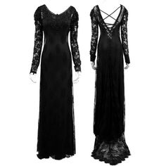 Her Secret World Long Gothic Dress by Punk Rave (160 CAD) ❤ liked on Polyvore featuring dresses, gothic punk dresses, long stretch dress, stretchy dresses, black goth dress and black gothic lolita dress