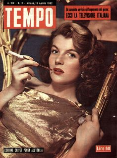 Corinne Calvet thinks of Italy (19th April 1952).