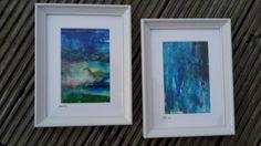 Kleine feine Kunst Unter Wasser Set 4 zwei von abstractartmoewchen