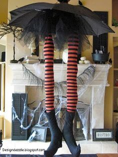 whimsical witch legs halloween decoration from design dazzle based on curious sofas umbrella witch legs - Halloween Decorations Witch