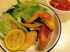 手羽先のレモン煮、タンドリーチキン、タコのトマト煮