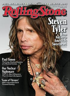 Aerosmith frontman Steven Tyler was typically gabby at the photo shoot for the cover of the latest issue of Rolling Stone. Mia Tyler, Like A Rolling Stone, Rolling Stones, Rock Roll, Aerosmith Concert, Beatles, Dr Hook, Rolling Stone Magazine Cover, Magazine Covers
