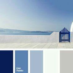 Color Palette by In Color Balance Blue Colour Palette, Colour Schemes, Color Combos, Beach Color Schemes, Blue Color Pallet, Beach Color Palettes, Color Azul, Colour Combinations Interior, Blue Shades Colors