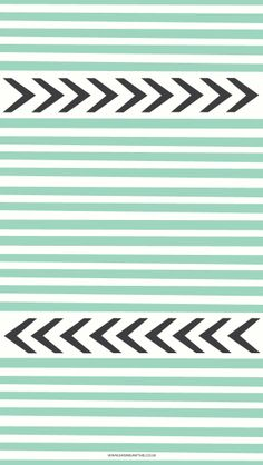mint stripes black chevron arrows iphone phone wallpaper background lock screen